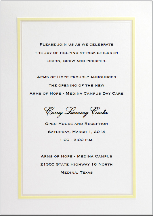 Currey Learning Center Reception invitation