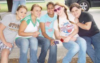 girls smiling