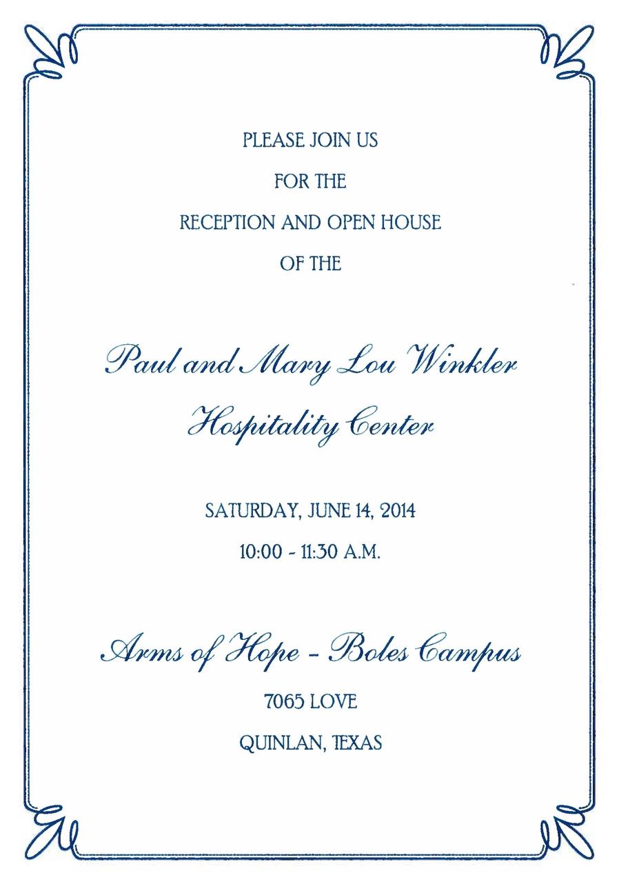 Winkler Hospitality invitation